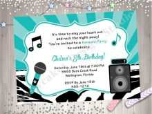 87 Customize Karaoke Party Invitation Template Now for Karaoke Party Invitation Template