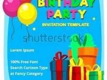 87 Format 1St Birthday Invitation Template Vector For Free by 1St Birthday Invitation Template Vector