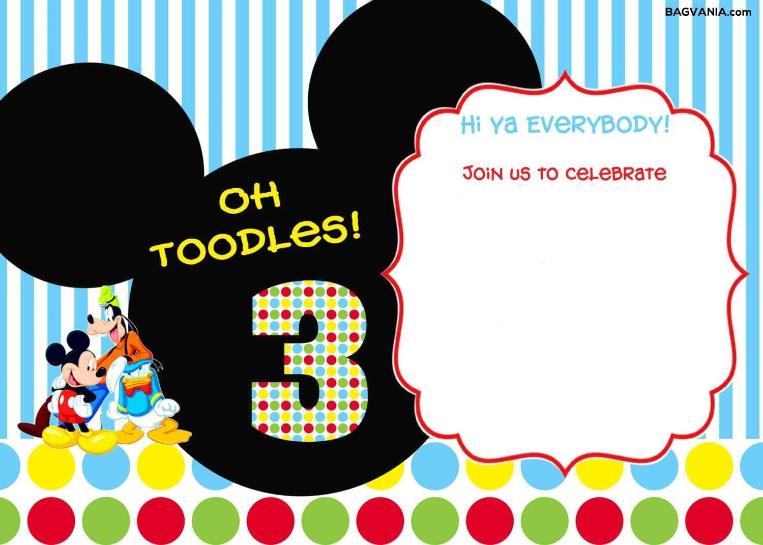 87 Format Editable Mickey Mouse