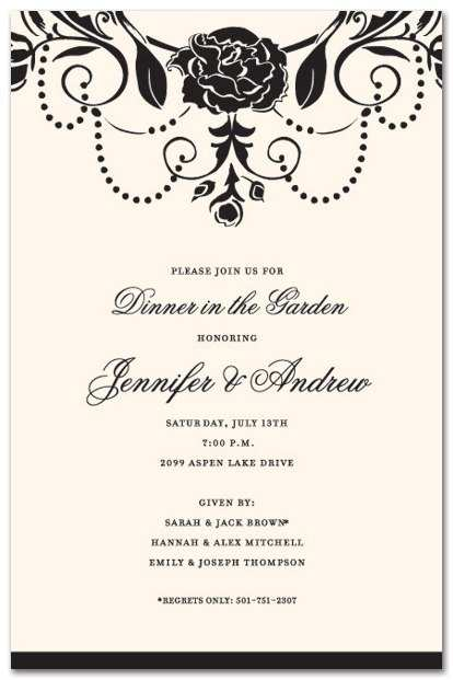 87 Format Example Invitation Dinner Party With Stunning Design for Example Invitation Dinner Party