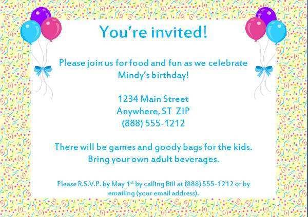 87 Free Printable Birthday Invitation Letter Template Templates by Birthday Invitation Letter Template