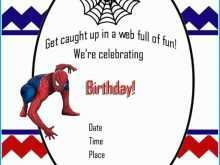 87 Online Birthday Invitation Template Spiderman Download for Birthday Invitation Template Spiderman
