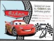 87 Online Cars Birthday Invitation Template Maker with Cars Birthday Invitation Template