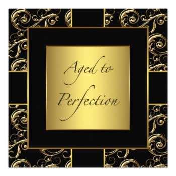 87 Printable Birthday Invitation Template Black And Gold Formating with Birthday Invitation Template Black And Gold