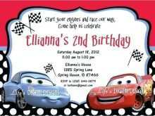 87 Printable Cars Birthday Invitation Template Free Download Formating by Cars Birthday Invitation Template Free Download