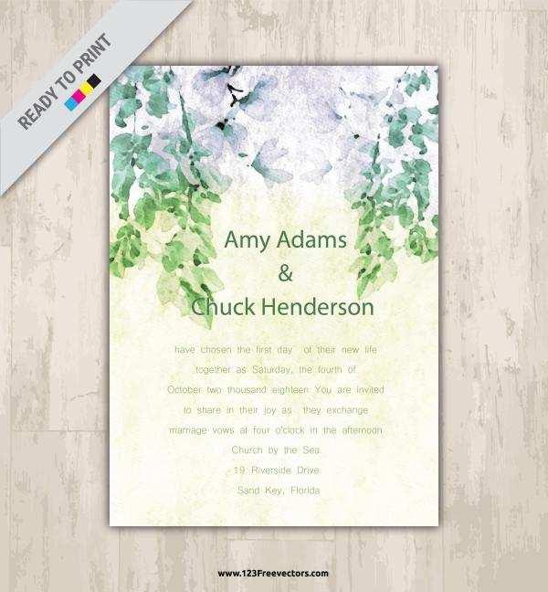 87 Standard Wedding Invitation Ticket Template Vector Free Download For Free with Wedding Invitation Ticket Template Vector Free Download