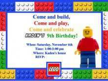 87 The Best Lego Party Invitation Template Free for Ms Word for Lego Party Invitation Template Free