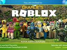 Roblox Party Invitation Template