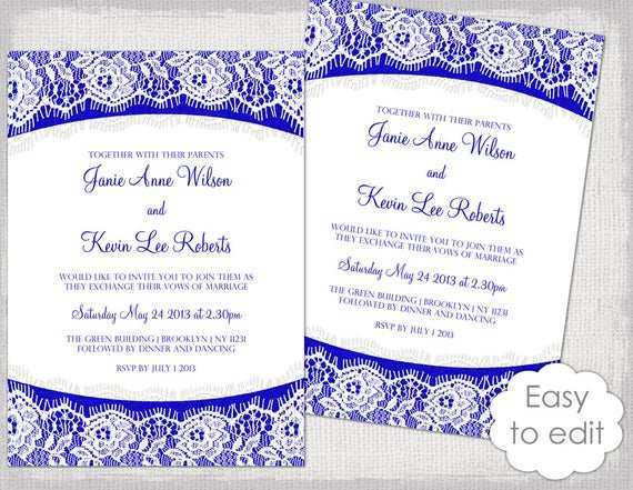 88 Adding Royal Blue Wedding Invitation Template in Photoshop with Royal Blue Wedding Invitation Template