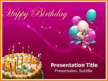 Birthday Invitation Template Powerpoint