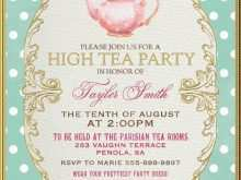88 Blank Afternoon Tea Party Invitation Template With Stunning Design with Afternoon Tea Party Invitation Template