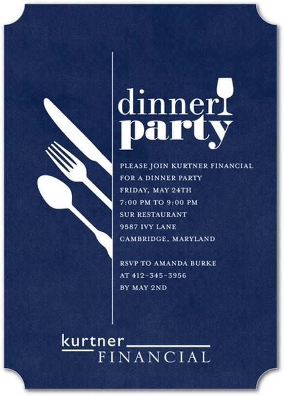 88 Blank Example Invitation Dinner Party Templates by Example Invitation Dinner Party