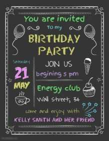 88 Creative Party Invitation Poster Template Templates by Party Invitation Poster Template