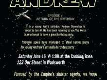 Birthday Invitation Template Star Wars
