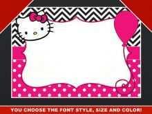 88 Customize Hello Kitty Blank Invitation Template Templates with Hello Kitty Blank Invitation Template