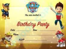 88 Customize Our Free Paw Patrol Birthday Invitation Template Free Layouts with Paw Patrol Birthday Invitation Template Free