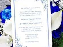 88 Customize Royal Blue Wedding Invitation Template Photo by Royal Blue Wedding Invitation Template