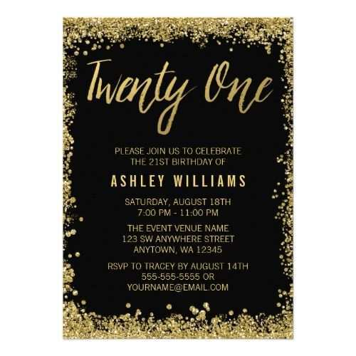 88 Format Birthday Invitation Template Black And Gold PSD File for Birthday Invitation Template Black And Gold