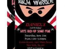 88 How To Create Ninja Warrior Birthday Invitation Template Free With Stunning Design by Ninja Warrior Birthday Invitation Template Free