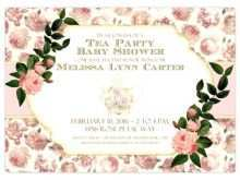 88 How To Create Victorian Tea Party Invitation Template Download with Victorian Tea Party Invitation Template