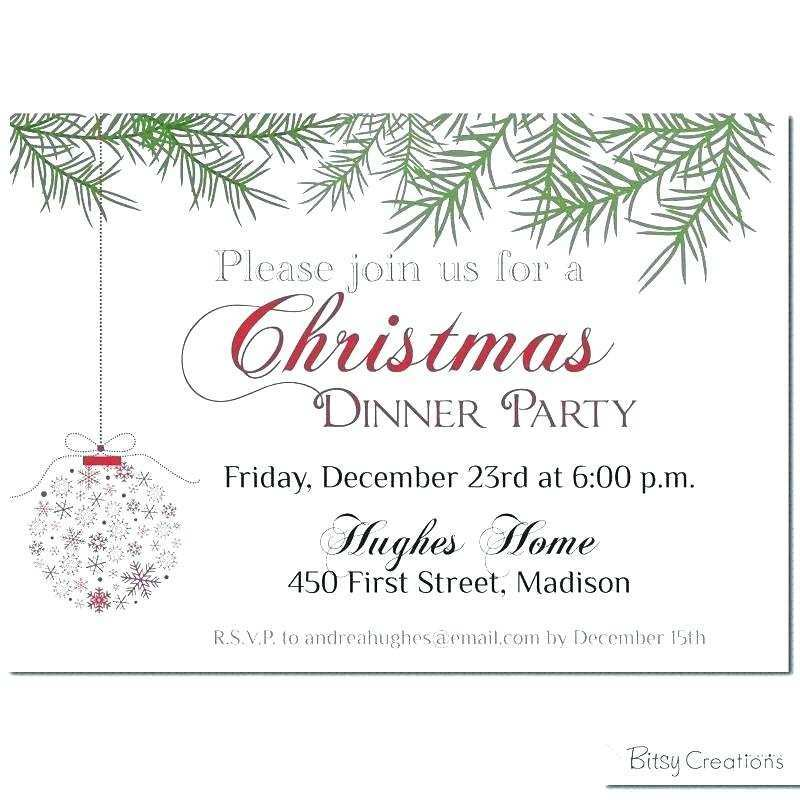 88 Printable Blank Holiday Invitation Template in Word by Blank Holiday Invitation Template