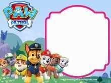 88 Printable Paw Patrol Birthday Invitation Template Free for Ms Word by Paw Patrol Birthday Invitation Template Free