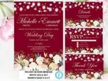 88 The Best Wedding Invitation Template Burgundy Layouts for Wedding Invitation Template Burgundy