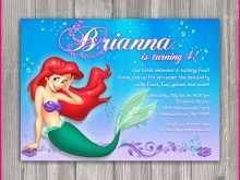 88 Visiting Little Mermaid Blank Invitation Template Now for Little Mermaid Blank Invitation Template