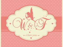 Silhouette Wedding Invitation Template