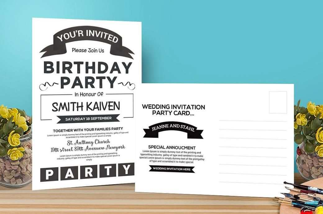 89 Customize Birthday Invitation Template Indesign in Word with Birthday Invitation Template Indesign