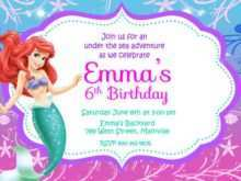 89 Customize Our Free Little Mermaid Blank Invitation Template Maker by Little Mermaid Blank Invitation Template