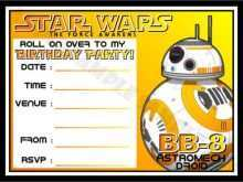 89 Customize Our Free Star Wars Birthday Invitation Template Layouts by Star Wars Birthday Invitation Template