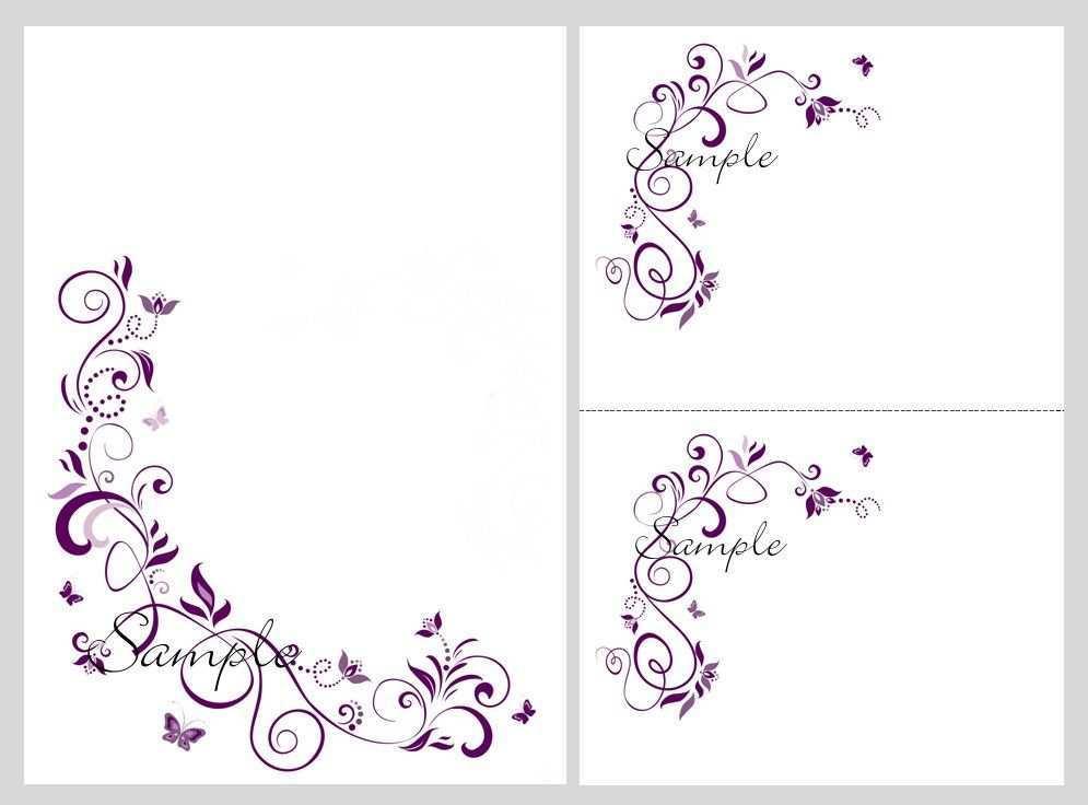 89 Format Wedding Invitation Templates Violet in Photoshop with Wedding Invitation Templates Violet