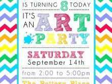 89 Free Art Party Invitation Template for Ms Word by Art Party Invitation Template