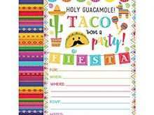89 Free Printable Taco Party Invitation Template Free Formating with Taco Party Invitation Template Free