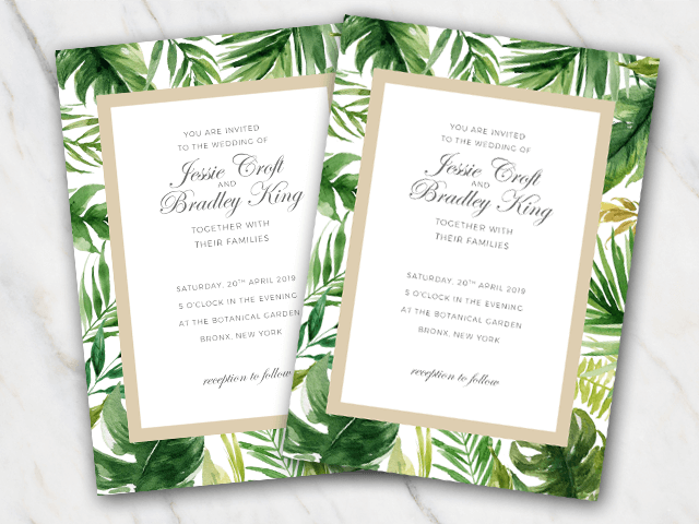 89 How To Create Wedding Invitation Template Green Download with Wedding Invitation Template Green