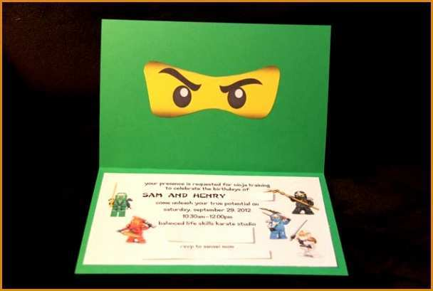 89 Printable Ninjago Party Invitation Template Formating with Ninjago Party Invitation Template