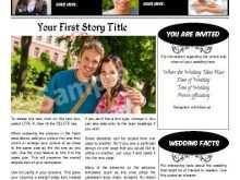 90 Best Wedding Invitation Newspaper Template Layouts with Wedding Invitation Newspaper Template