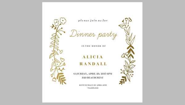 90 Create Blank Dinner Invitation Template for Ms Word for Blank Dinner Invitation Template