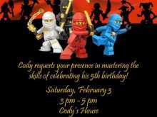 90 Create Ninjago Party Invitation Template Templates with Ninjago Party Invitation Template