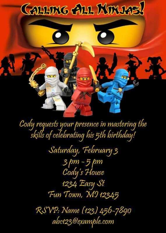 90 Create Ninjago Party Invitation Template Templates with Ninjago Party Invitation Template
