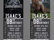 Jurassic World Party Invitation Template