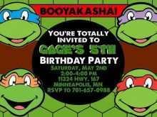 90 Format Ninja Turtle Birthday Invitation Template in Word with Ninja Turtle Birthday Invitation Template