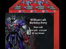 90 Free Transformers Birthday Invitation Template Maker with Transformers Birthday Invitation Template