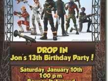 90 Online Fortnite Birthday Invitation Template Formating by Fortnite Birthday Invitation Template