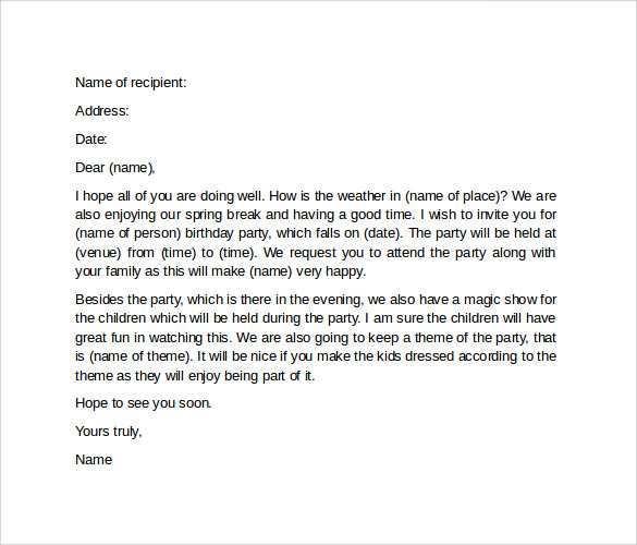 90 Standard Birthday Invitation Letter Format In Word in Photoshop for Birthday Invitation Letter Format In Word