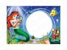 90 The Best Little Mermaid Blank Invitation Template in Word for Little Mermaid Blank Invitation Template