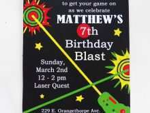 90 Visiting Birthday Invitation Template Laser Tag in Word for Birthday Invitation Template Laser Tag