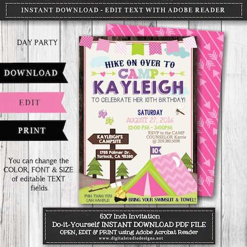 91 Blank Party Invitation Template Adobe For Free for Party Invitation Template Adobe