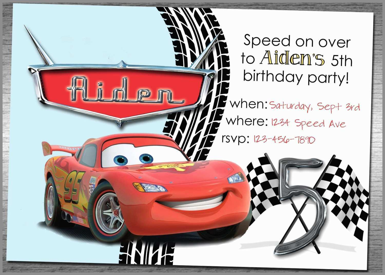 91 Create Cars Birthday Invitation Template Free Templates with Cars Birthday Invitation Template Free